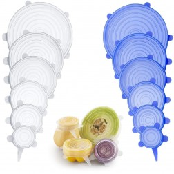 Couvercle Silicone Alimentaire Extensible (12pcs) 6 Tailles